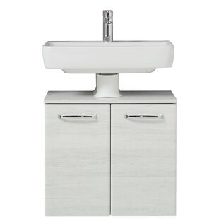 Amora 600mm Wall Mounted Under Sink Cabinet By Quickset