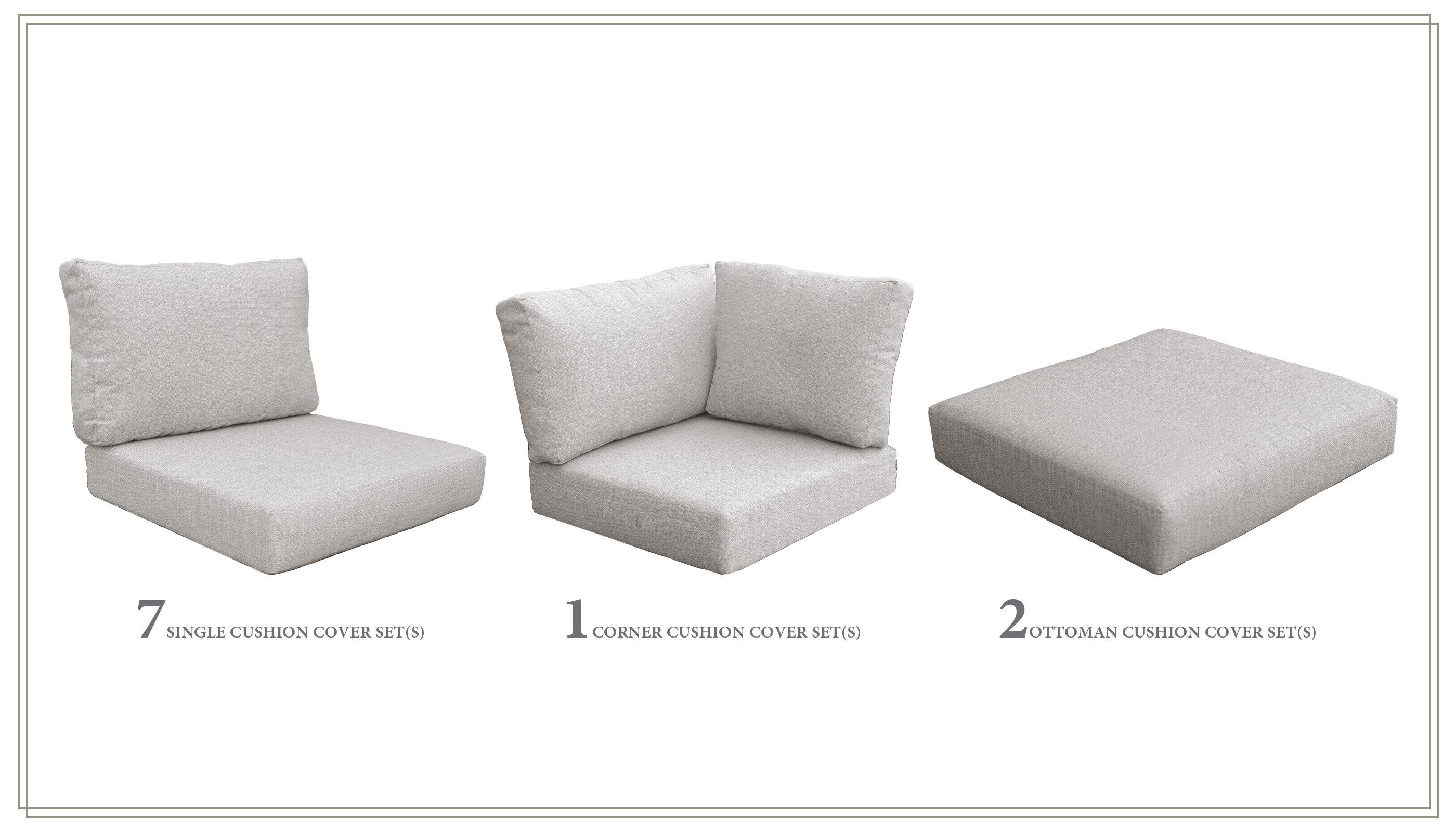sol 72 outdoor 19 piece indooroutdoor lounge chair cushion set w