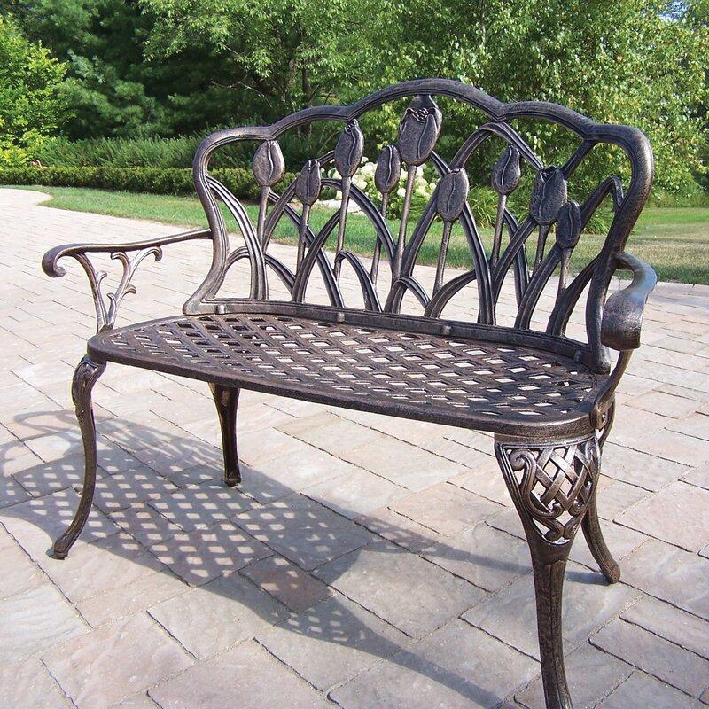 Brayden Studio Farrior Aluminum Garden Bench