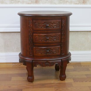 Astoria Grand Betty 3 Drawer Nightstand