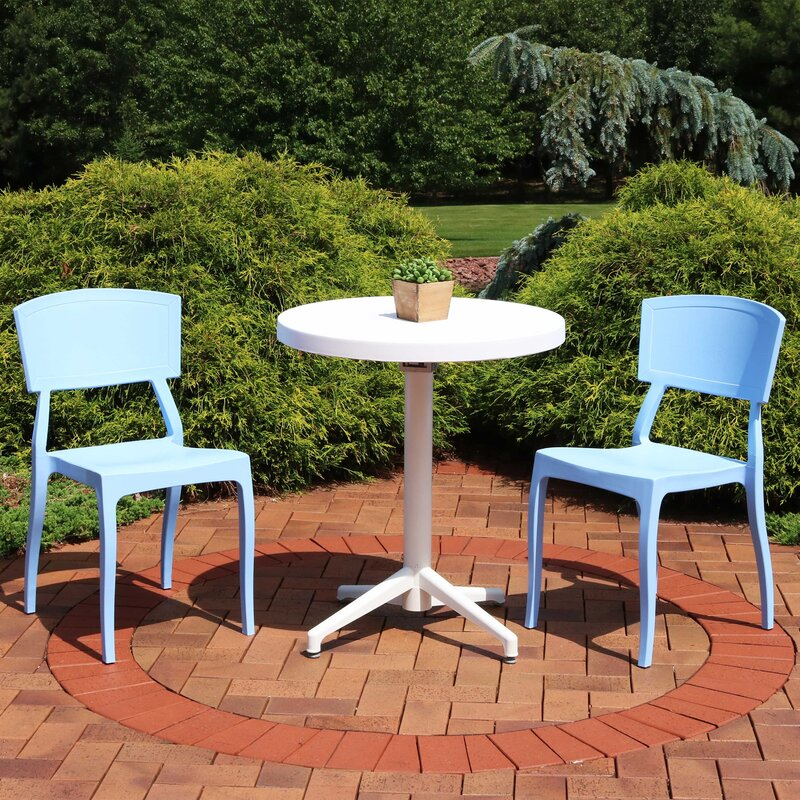 Red Barrel Studio Aimable 3 Piece Dining Set