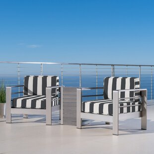 Dilbeck Outdoor Seating Group With Sunbrella Cushions by Orren Ellis New Design