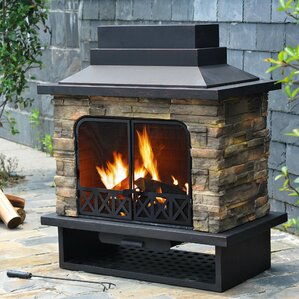Felicia Steel Wood Burning Outdoor Fireplace