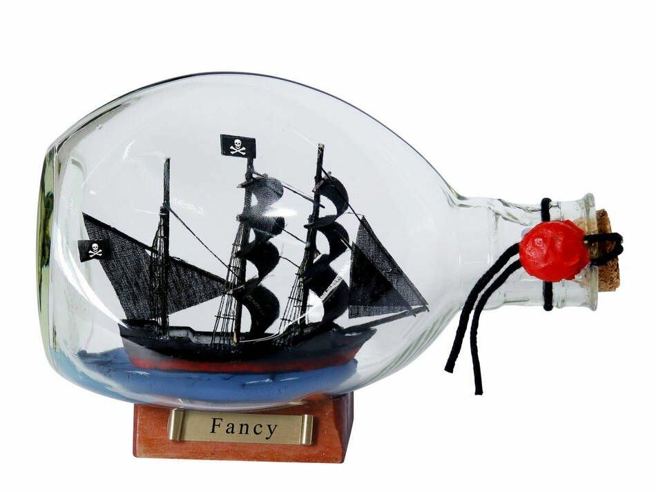 Breakwater Bay Muncy Fancy Pirate Ship Glass Bottle Wayfair