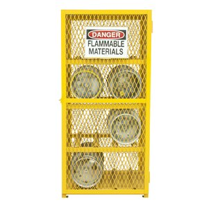 Steel and Iron Horizontal Cylinder Storage Cabinet by Durham Manufacturing
