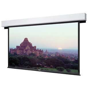 Advantage Deluxe Electrol Matte White Manual Projection Screen by Da-Lite Modern