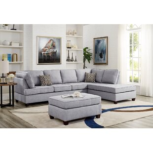 Menefee Reversible Sectional with Ottoman