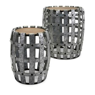 Perlo Sturdy Galvanized 2 Piece Nesting Tables by August Grove