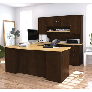 Alves Reversible Executive Desk with Hutch by Mercury Row