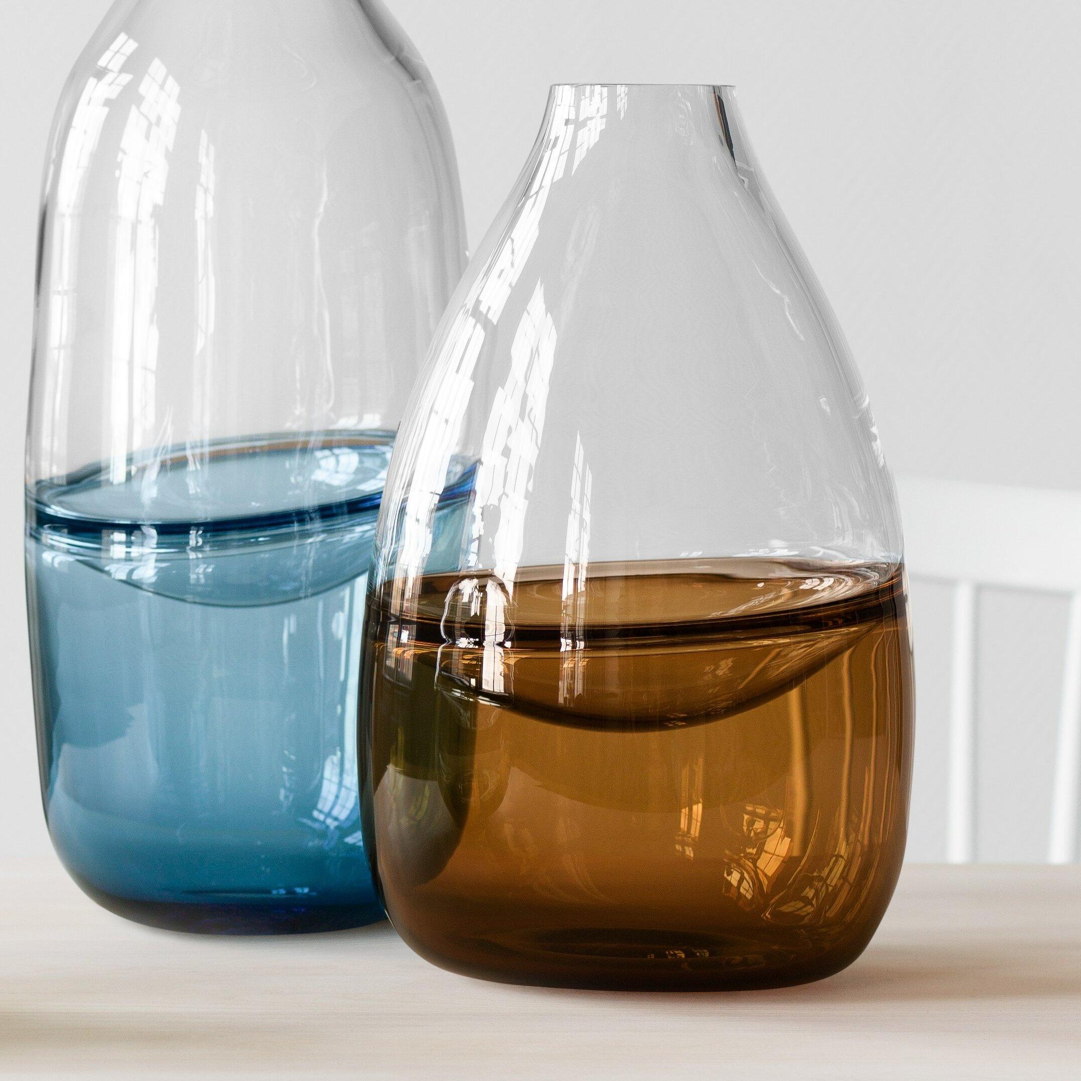 Kosta Boda Clear Brown 12 4 Glass Table Vase Wayfair