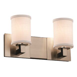 Latitude Run Red Hook Contemporary 60W 2 Light Cylinder w/ Flat Rim Vanity Light
