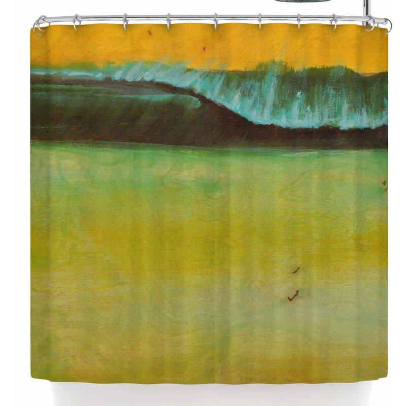 Nathan Gibbs Lemon Sands Shower Curtain