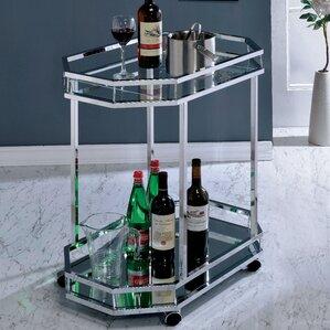Distefano Contemporary Bar Cart by Mercury Row
