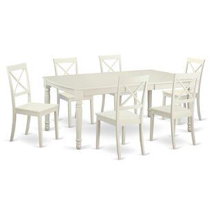 Pimentel 7 Piece Dining Set by August Grove Savings