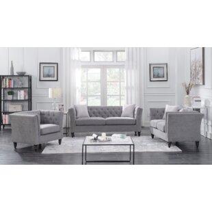 Aiken 3 Piece Living Room Set by Alcott Hill