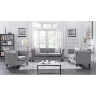 Compare prices Clem 3 Piece Living Room Set by House of Hampton Reviews (2019) & Buyer's Guide