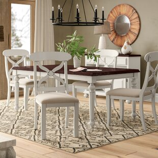 Lockwood Butterfly Leaf 6 Piece Dining Set Loon Peak