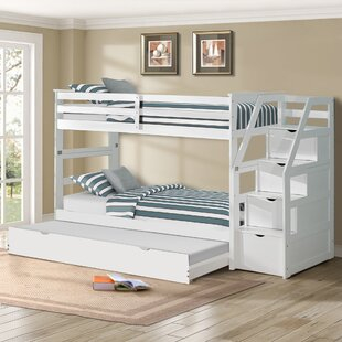 Alcrossagh Twin Bunk Bed with Trundle by Harriet Bee