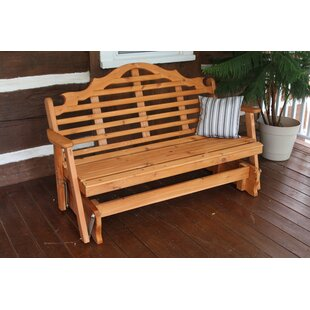 Coury Glider Bench by Rosecliff Heights