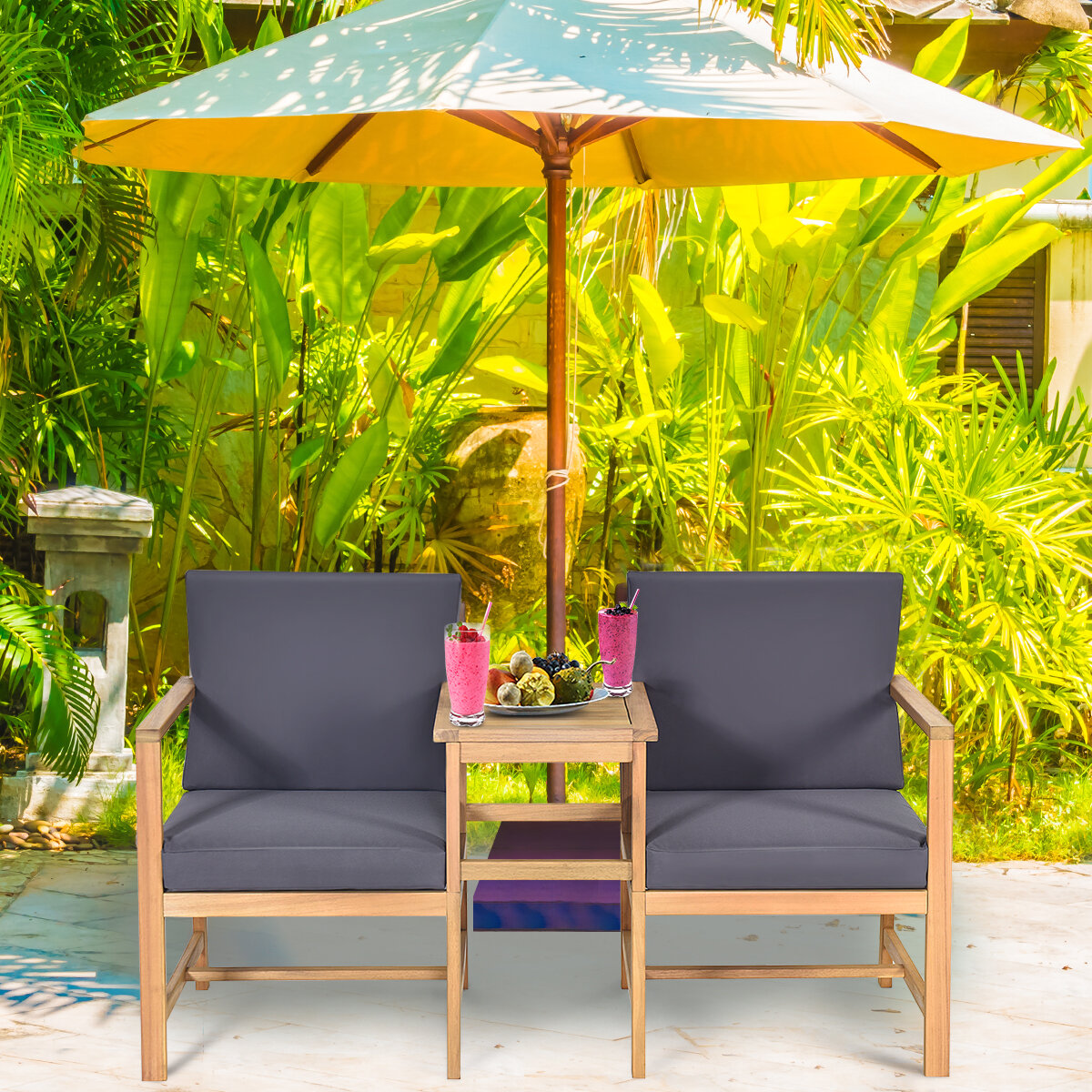Teak Finish Small Patio Bistro Sets You Ll Love In 2021 Wayfair