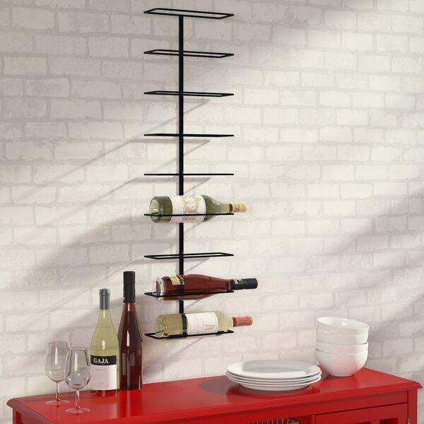 Wade Logan Paige 9 Bottle Wall Mounted Wine Rack Amp Reviews