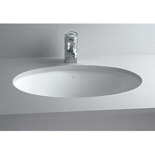 Price comparison Vitreous China Oval Undermount Bathroom Sink with Overflow ByCheviot Products