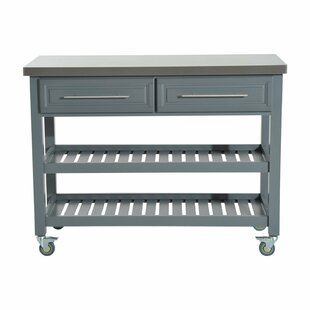 London 3 Tier Kitchen Cart with Stainless Steel Top Ebern Designs