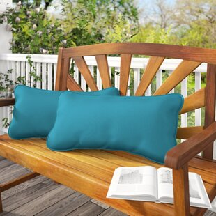 Derrytown Indoor/Outdoor Sunbrella Lumbar Pillow (Set Of 2) by Beachcrest Home Today Sale Only