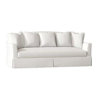 Wayfair Custom Upholstery Carson Leather Sofa Birch Lane