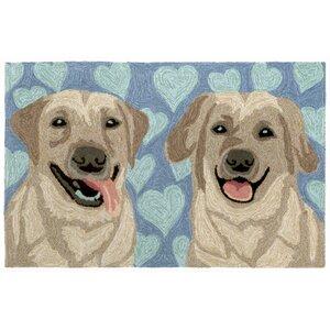Seavey Puppy Love Blue Indoor/Outdoor Area Rug