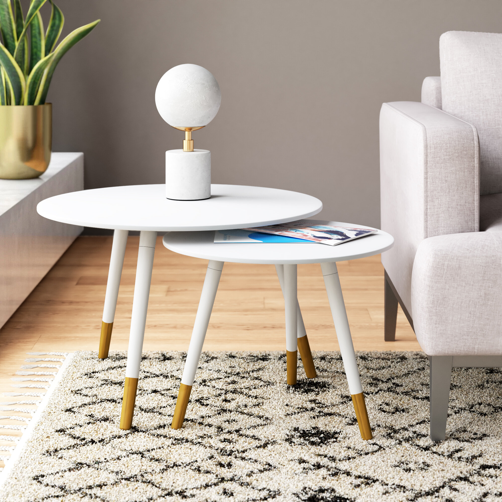 Demeter 2 Piece Nesting Tables Reviews Allmodern
