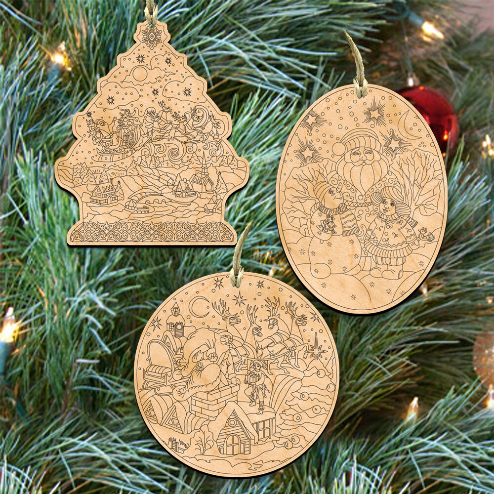 The Holiday Aisle 3 Piece Do It Yourself Christmas Holiday Shaped Ornament Set Wayfair