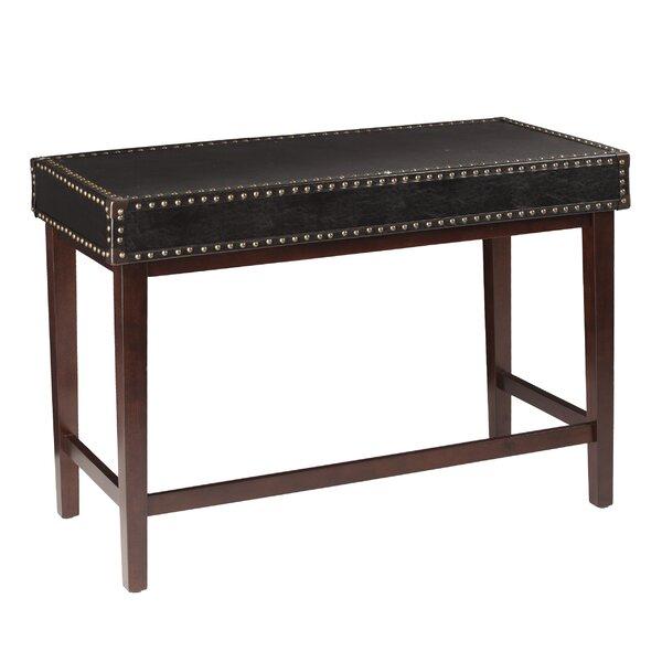 Willa Arlo Interiors Jaya Faux Leather Writing Desk | Wayfair