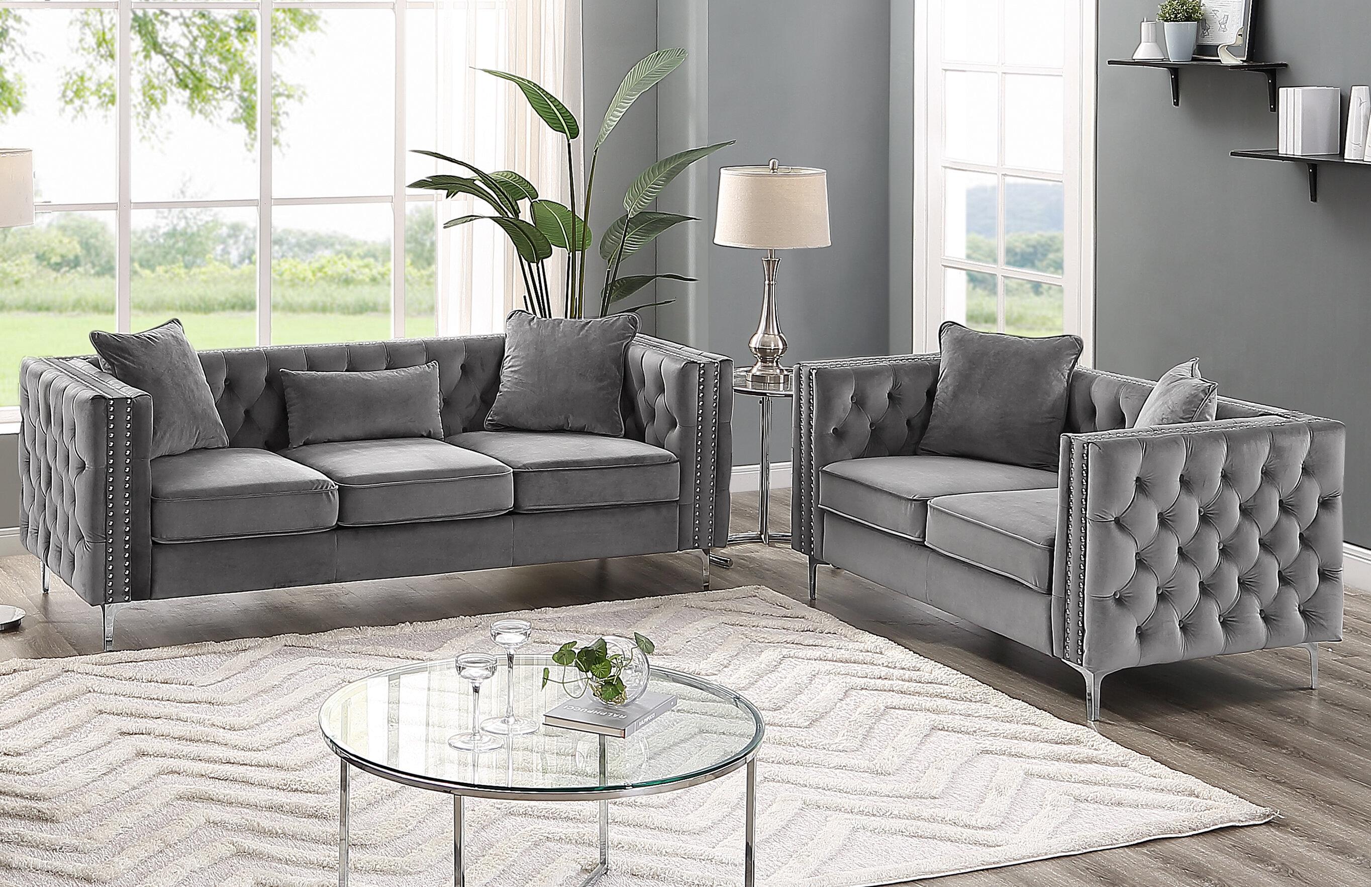 Marvine 20 Piece Velvet Living Room Set