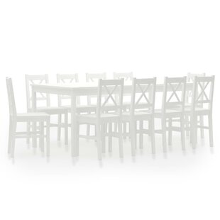 Novalie Dining Set With 10 Chairs By Mercury Row