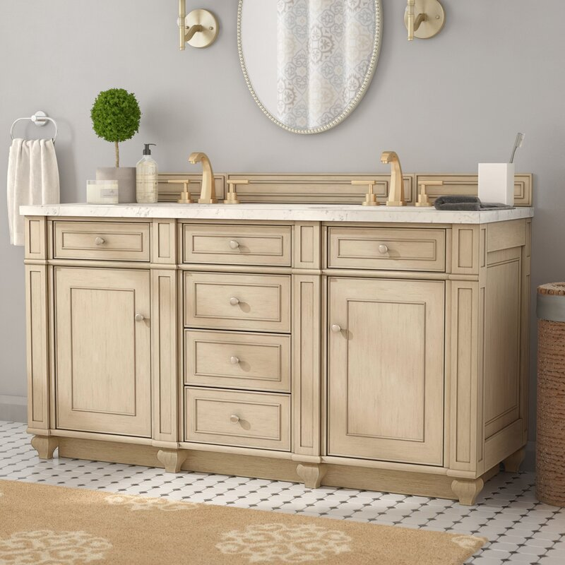 "Alcott Hill Lambrecht 60"" Double Bathroom Vanity Base Only"