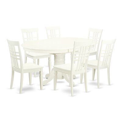 Emmaline 7 Piece Extendable Solid Wood Dining Set Alcott Hill Color: White