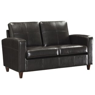 Boulware Wilmot Leather Loveseat by Wrought Studio