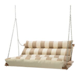 Rosecliff Heights Montgomery Regency Sand Deluxe Cushion Sunbrella Porch Swing