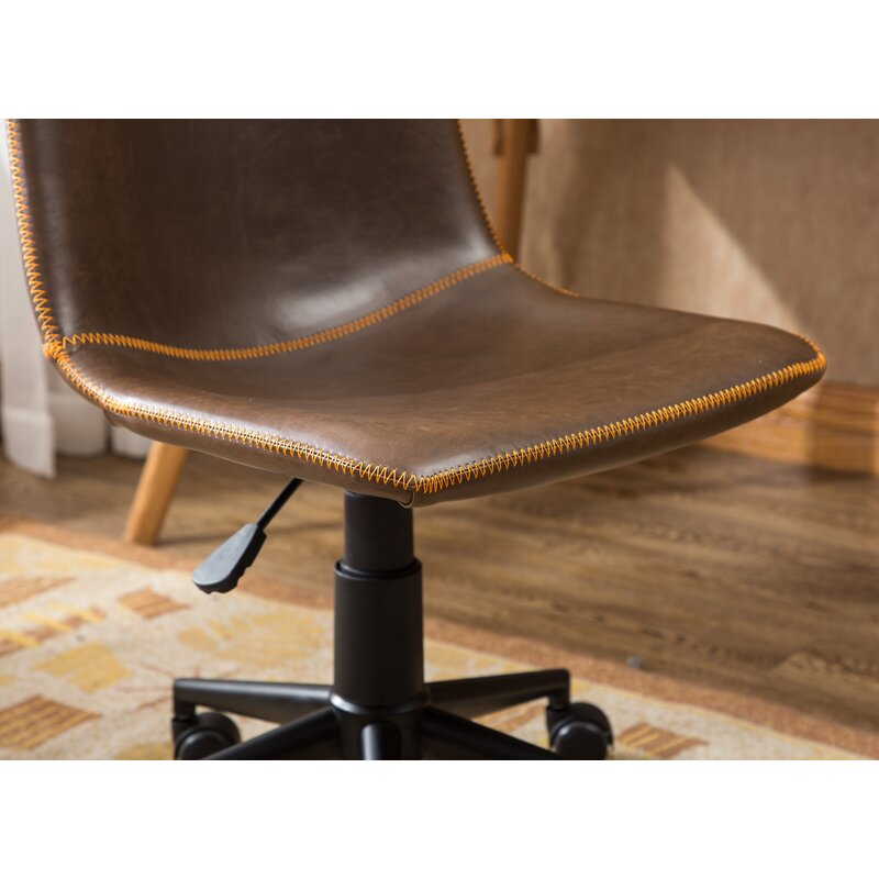 Williston Forge Florinda Faux Swivel Air Lift Office Chair & Reviews ...