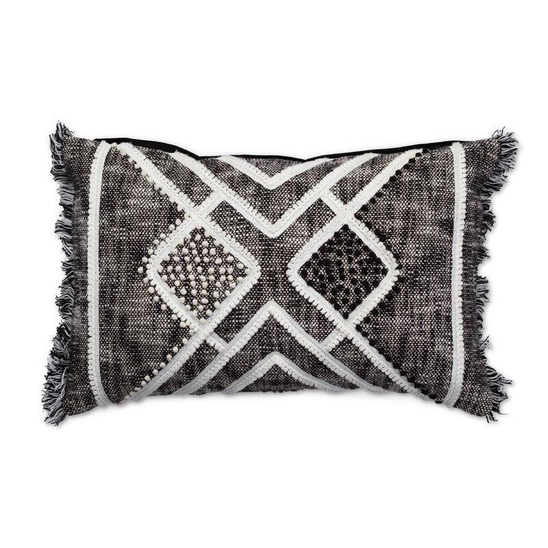 Dakota Fields Kennedi Cotton Ikat Lumbar Pillow Reviews Wayfair