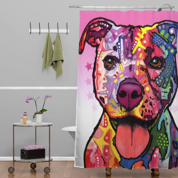 DENY Designs Dean Russo Dogs and Cats Cherish the Pitbull Shower ...