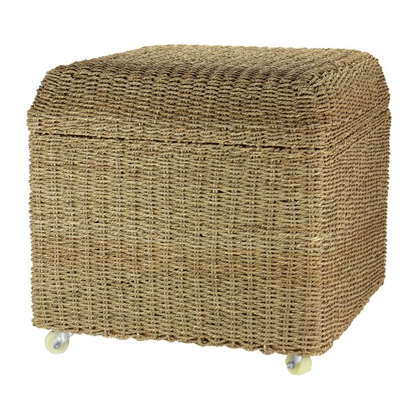 Household Essentials Rolling Seagrass Wicker Storage Seat Ottoman & Reviews    Wayfair - Household Essentials Rolling Seagrass Wicker Storage Seat Ottoman