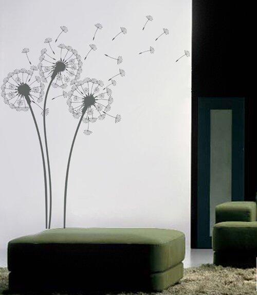 Pop Decors Natural Flowers Dandelions Wall Decal & Reviews | Wayfair