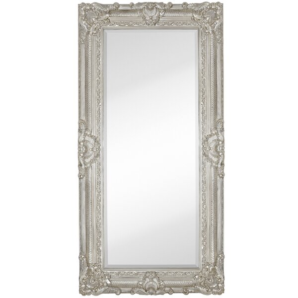 majestic mirror large traditional polished chrome rectangular beveled glass framed wall mirror reviews wayfair
