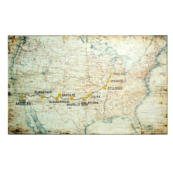 American Mercantile Wood Route US Map Graphic Art Reviews - Us map graphic