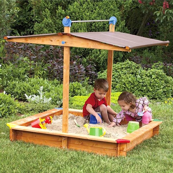 Tierra Garden 4.67 Square Sandbox With Cover & Reviews