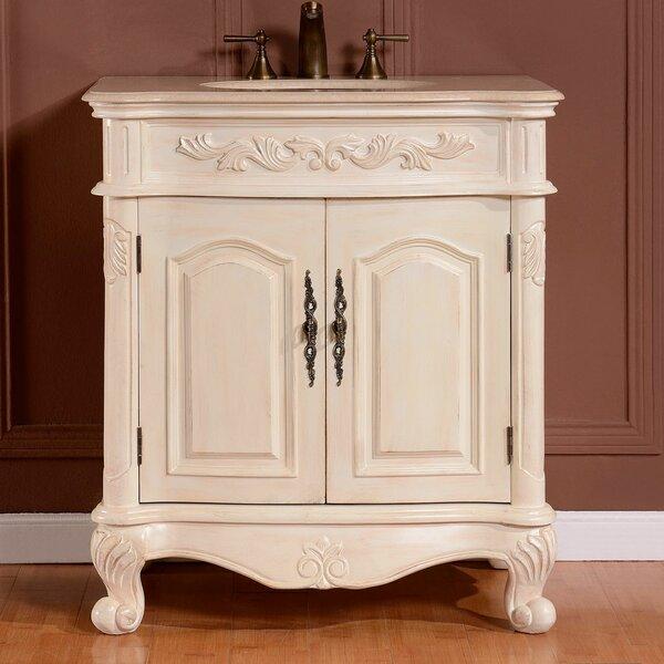 """silkroad exclusive 32"""" single sink cabinet bathroom vanity set"""