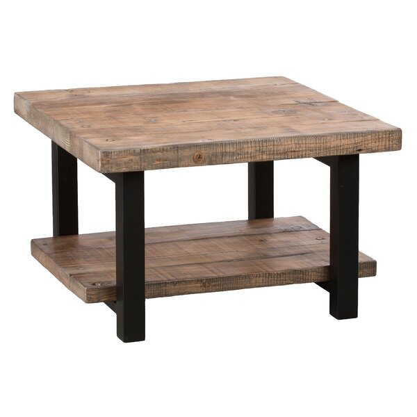 Loon Peak Somers 27 Reclaimed Wood Square Coffee TableReviews