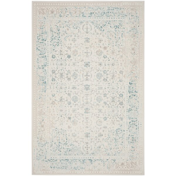 Linoleum Rug Turquoise Terracotta Area Rug Or Kitchen Mat: One Allium Way Auguste Turquoise/Ivory Area Rug & Reviews